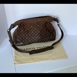 Louis Vuitton Idyle cloth bag with leather strap